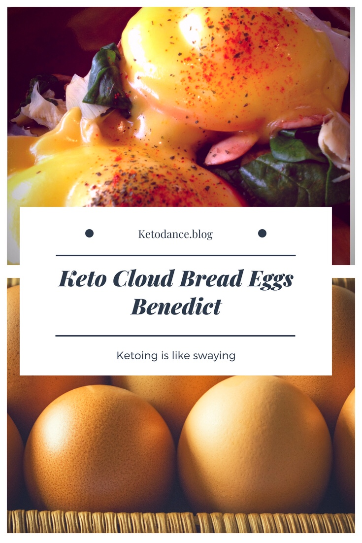 Easy Keto diet cloud bread eggs benedict