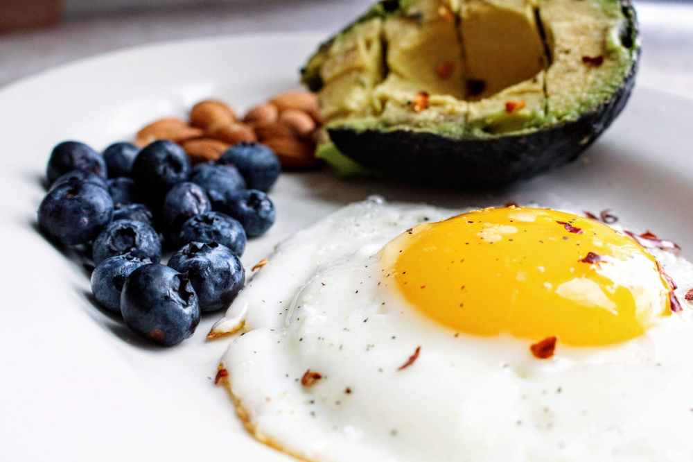 Simple keto friendly breakfast